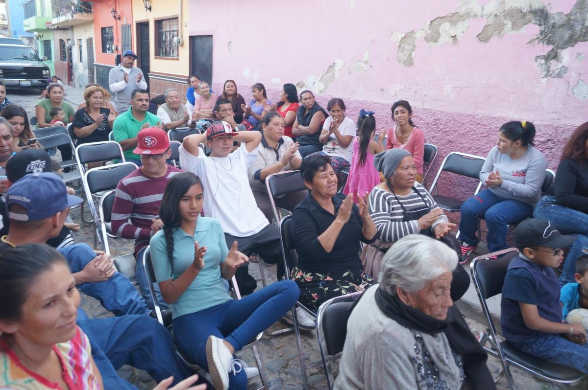 Presidente en tu barrio en Chapala, Javier Degollado