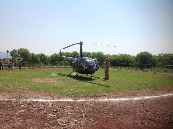 9.- Por fallas técnicas el helicóptero no pudo realizar su vuelo de exhibición.