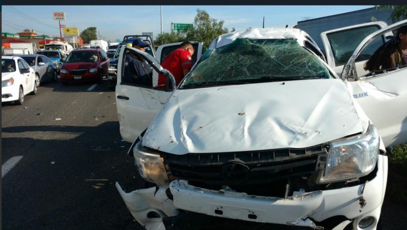 Accidente sobre a carretera a C hapala