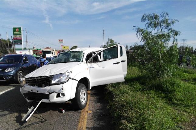 Accidente sobre a carretera Chapala