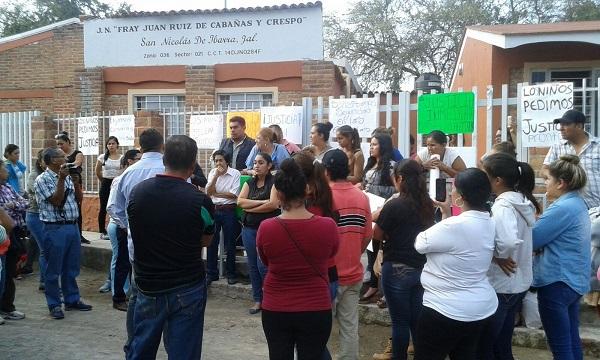 Manifestación en kinder de San Nicolás