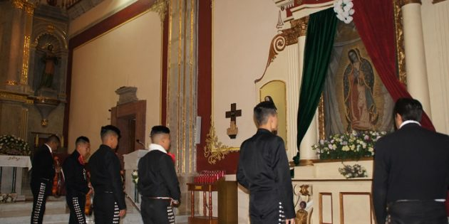Músicos ribereños cantaron las mañanitas a la Guadalupana