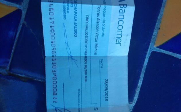 Detectan entrega de por lo menos 15 cheques de finiquitos sin fondos