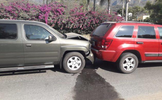 Se registra choque en carretera Ajijic Jocotepec