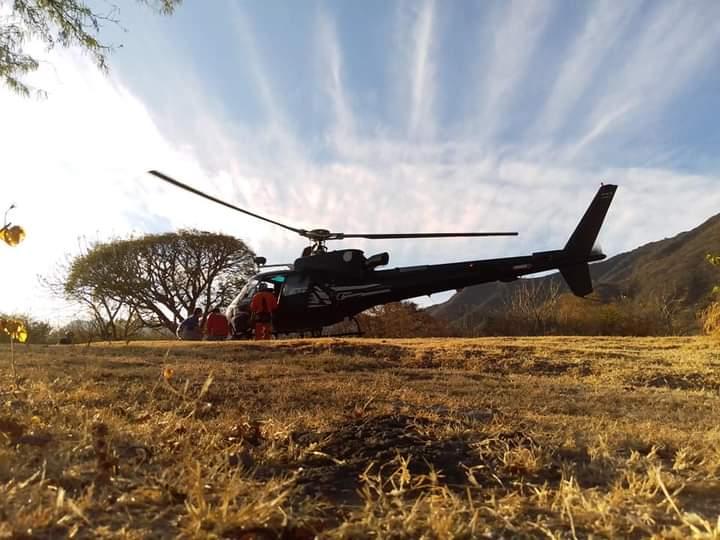 Un helicóptero participó en el rescate que duró más de cuatro horas