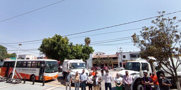 Recibe nuevos camiones el Ayuntamiento de Chapala