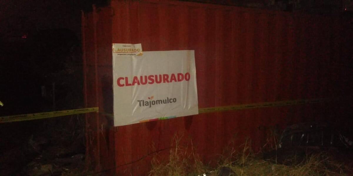 El corralón fue clausurado por autoridades de Tlajomulco. Foto cortesía.